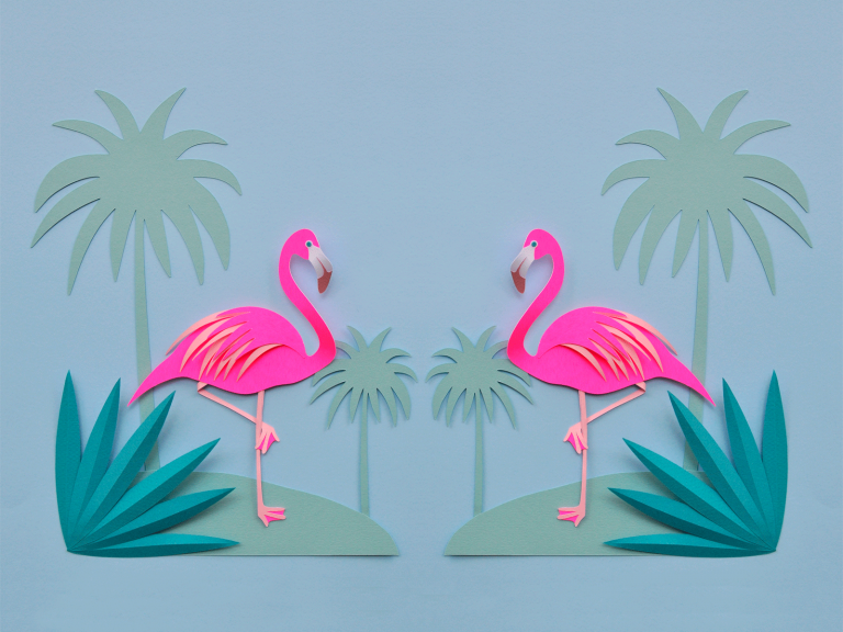 flamingo wallpaper 6