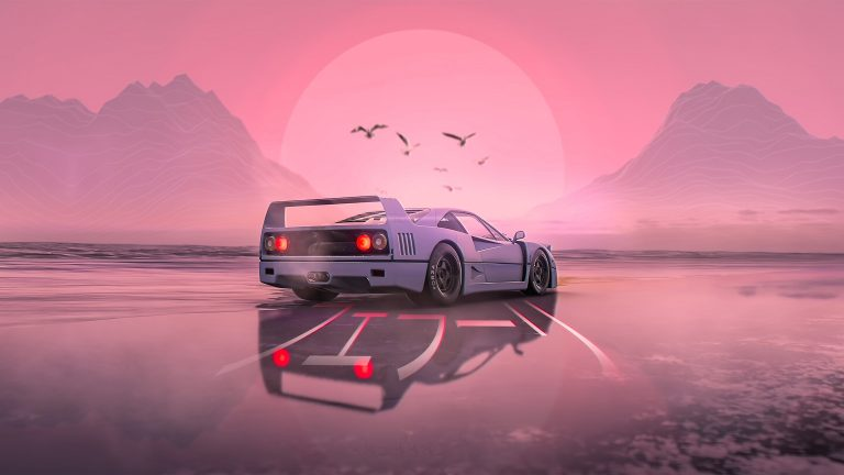 retrowave wallpaper 090