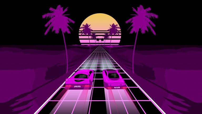 retrowave wallpaper 097