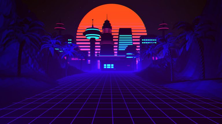 retrowave wallpaper 104