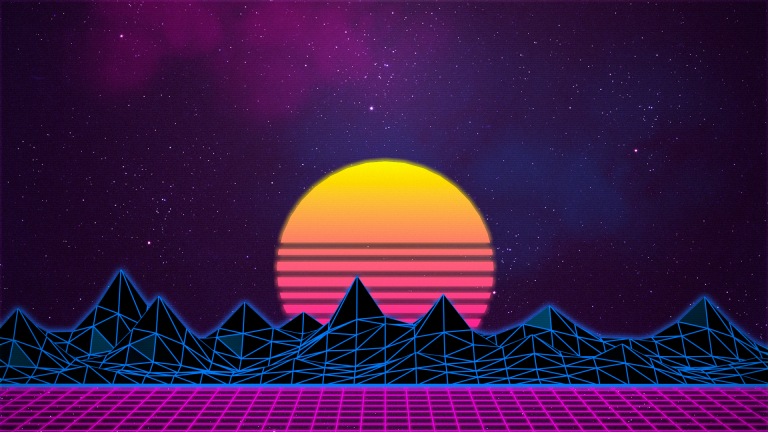 retrowave wallpaper 120