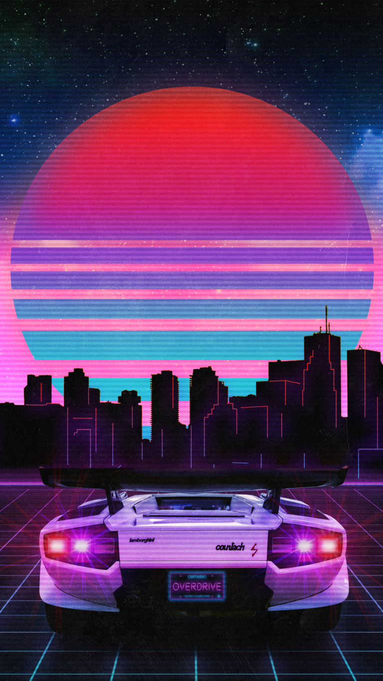 retrowave wallpaper 124