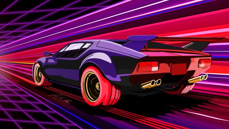 retrowave wallpaper 125